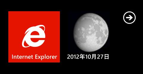 WindowsPhone用MoonAgeでライブタイルを設置したときの表面の表示の様子です。
